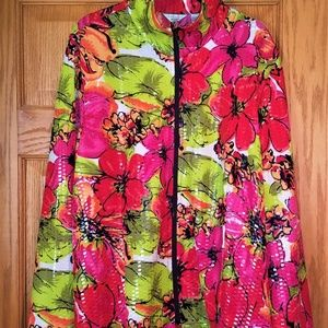 Laura Ashley Sequin Floral Jacket, 2X